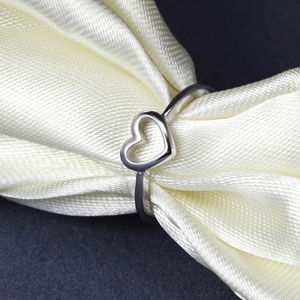 Silver Color Heart Shaped Ring